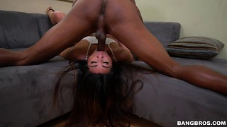 Gorgeous face-fucking action with a big black dick