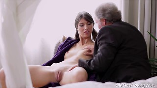 Excited young chick is getting fucked by an old boss