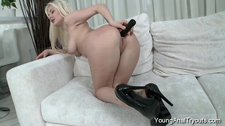 Bitchy babe with good ass likes dirty anal penetration